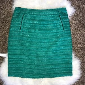 Halogen Green Textured Skirt Size 12
